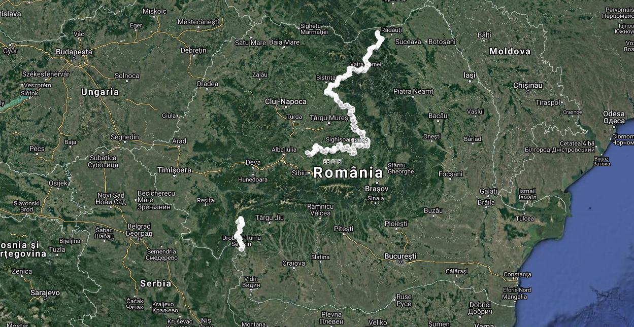 Via Transilvanica - hartă